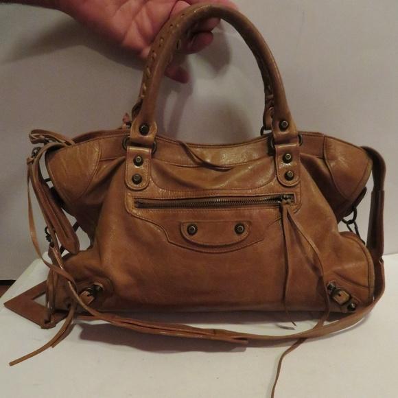 71d6b06b633f Balenciaga Handbags - BALENCIAGA CAMEL BROWN CLASSIC CITY LEATHER BAG